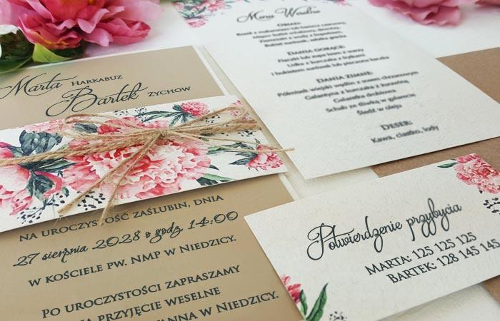 Wyjątkowe zaproszenia ślubne!